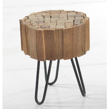 Kaylani Side Table with Hairpin Legs