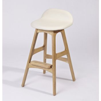 Oaklyn Counter Stool - Black Classic Leather