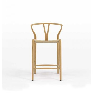 Robert CH24 Y Chair Counter Stool - Ash & Natural Cord - Reproduction