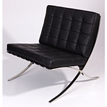 Korbyn Lounge Chair - Reproduction - Black Classic Leather
