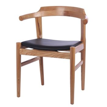 PP58 Dining Chair (Upholstered Seat) - Reproduction - Natural